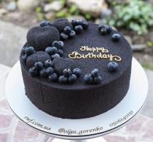 велюровый тортик с муссовыми сердечками