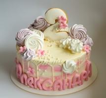 кремовый торт с безе