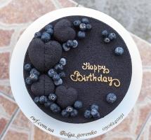 велюровый тортик с голубикой