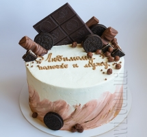 Кремовый торт с батончиками и Орео мужчине