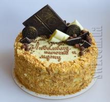 торт Наполеон с шоколадом