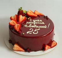 Муссовый тортик с клубничкой и ягодами
