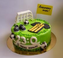 мастичный торт футболисту