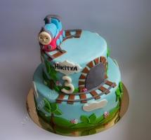торт мастичный для детей паровозик