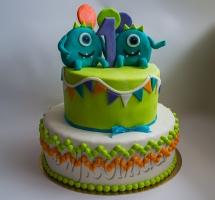 торт мастичный для детей монстрики