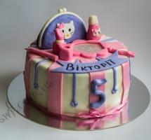 мастичный торт Китти