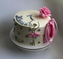 кремовый торт балерине