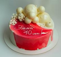 муссовый торт с шарами