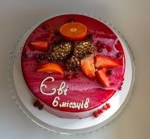 муссовый торт с фруктами