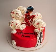 муссовый торт с безе девочке