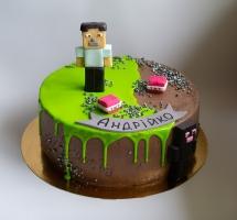 торт мастичный Minecraft