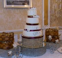 торт мастичный свадебный 4-х ярусный