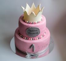 торт мастичный для маленькой принцессы