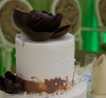 торт кремовый свадебный
