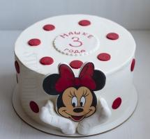 кремовый торт Минни-Маус