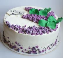 кремовый торт Сирень