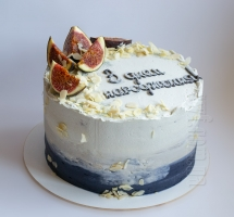 Торт с инжиром и миндалем