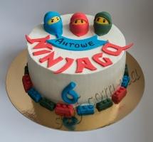 кремовый торт для детей Ниндзяго