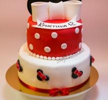 мастичный торт Минни-Маус