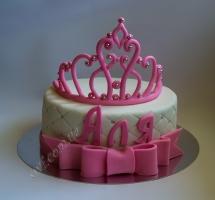 торт мастичный для детей корона