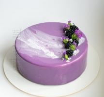 муссовый тортик с ягодами (ежемалина)