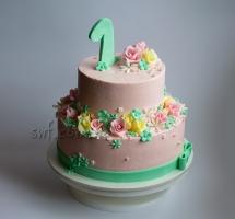 кремовый торт годик