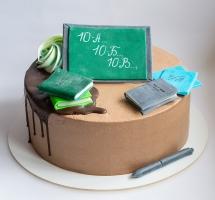 """Кремовый торт """"Школа"""""""