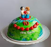 """Мастичный торт """"глобус"""""""