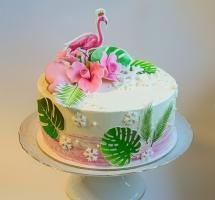 """кремовый торт """"Фламинго"""""""