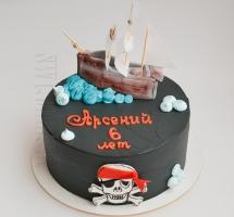 """кремовый торт """"Пираты"""""""
