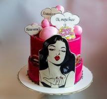 муссовый торт девушке