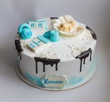 кремовый торт на крестины