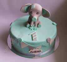 торт мастичный для детей слоненок