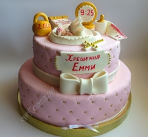 мастичный торт новорожденный