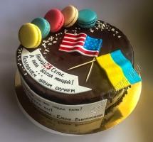 мастичный торт флаги