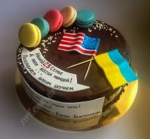 мастичный торт с флагами