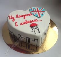 мастичный торт Лондон