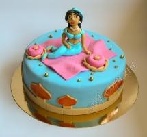 торт мастичный для детей принцесса