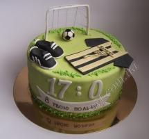 торт мастичный для детей футбол