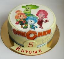 торт мастичный для детей фиксики