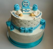 мастичный торт новорожденные близнецы