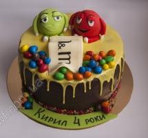 кремовый торт М & M`s