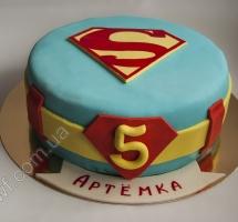торт мастичный для детей супермэн