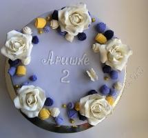 торт розы цветы сиреневый