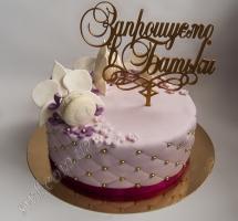 мастичный торт приглашение