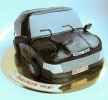 мастичный торт в виде машины