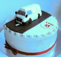 мастичный торт микроавтобус
