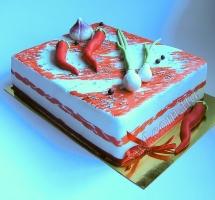 мастичный торт сало