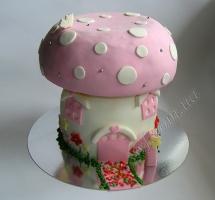 торт грибок-теремок