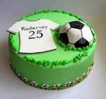 мастичный торт футбол
